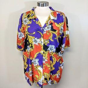 Fleur De Lis Camp Shirt
